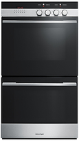 Fisher & Paykel OB60DDEX4 Built-In Double Electric Oven, Brushed Steel