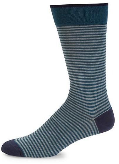 Marcoliani Milano Palio Striped Crew Socks