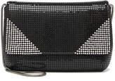 Whiting & Davis Crystal Corners Metal Mesh Clutch
