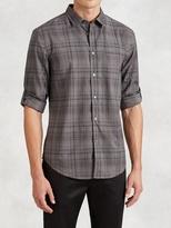 John Varvatos Slim Fit Plaid Button-Down Shirt