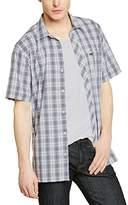 TBS Men's Normal Waist Short sleeve Casual Shirt - Blue -