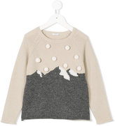 Il Gufo mountain intarsia knit jumper
