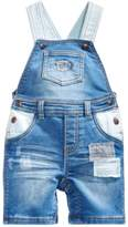 First Impressions Rip & Repair Patches Denim Shortall, Baby Boys, Created for Macy's