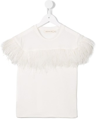 Andorine feather embellished T-shirt