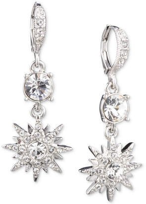 Givenchy Silver-Tone Crystal Star Small Double Drop Earrings