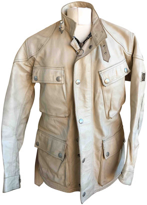 Belstaff White Leather Jackets