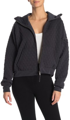 Free People Hibernation Quilted Zip Hoodie