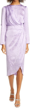 Ronny Kobo Jade Long Sleeve Silk Blend Dress