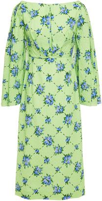 Emilia Wickstead Ivey Fil Coupe Floral-print Cotton-blend Midi Dress