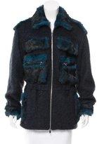 Diane von Furstenberg Fur-Trimmed Fitted Jacket