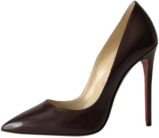 Christian Louboutin So Kate Brown Patent leather Heels