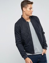 Jack Wills Bomber Jacket In Black