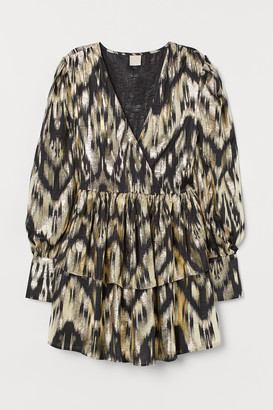 H&M Tiered Wrap-front Dress