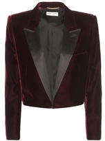 Saint Laurent Cropped Velvet Tuxedo Jacket