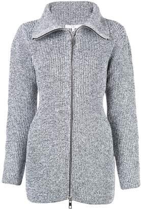 Tibi flapped-neck zip-up jacket