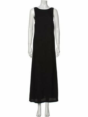 Creatures of Comfort Silk Long Dress Black