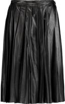 Joseph Pleated leather skirt