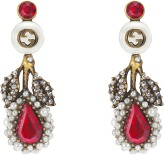 Gucci Earrings Wih Crystal And Glass Pearl