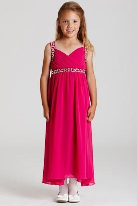 Little Misdress Little MisDress Pink Chiffon Maxi Dress