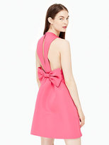 Kate Spade Satin faille bow back dress