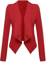 Ours Women's Lightweight Thin Casual Jacket Suit Draped Lapel Open Front Blazer (XL, )