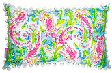 Lilly Pulitzer Seahorse Canvas Indoor/Outdoor Pillow