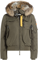 Parajumpers Gobi Down Bomber Jacket with Fur Trimmed Hood