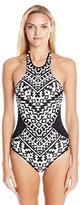 Seafolly Women's Kasbah High Neck Maillot One-Piece Swimsuit