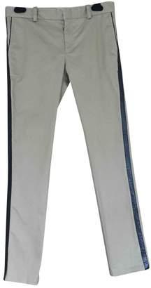Luella Beige Cotton Trousers for Women