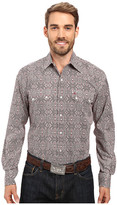 Stetson Mirror Medallion Long Sleeve Woven Snap Shirt