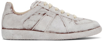 Maison Margiela White Painted Replica Sneakers