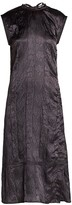 Acne Studios Embossed Satin Midi Dress