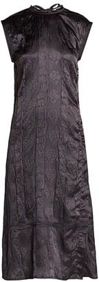 Acne Studios Embossed Satin Midi Dress