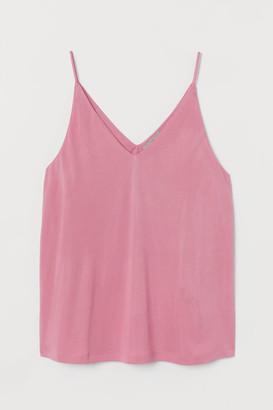 H&M V-neck Camisole Top - Pink