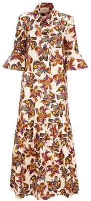 La DoubleJ Artemis Printed Poplin Maxi Shirtdress