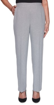 Alfred Dunner Petite Riverside Drive Textured Proportioned Pants