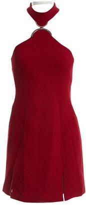 David Koma Red Wool Dresses