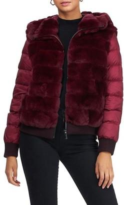 Gorski Detachable Quilted-Sleeves Rex Rabbit Fur Parka