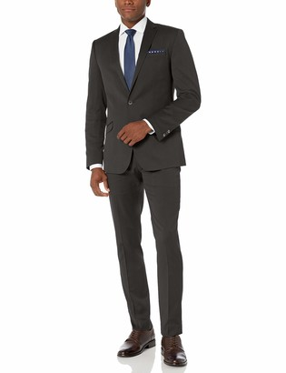 Kenneth Cole Reaction Men's Skinny Fit Stretch Finished Bottom Suits