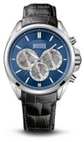 Hugo Boss 1512882 Chronograph Croc Embossed Leather Strap Watch One Size Assorted-Pre-Pack