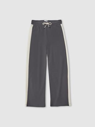 Jason Scott Colorblock Wide Leg Pants - Charcoal