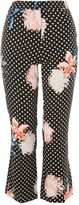 Topshop Print Kickflare Trousers