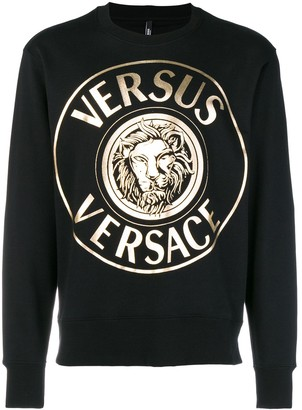 Versus foiled logo sweatshirt