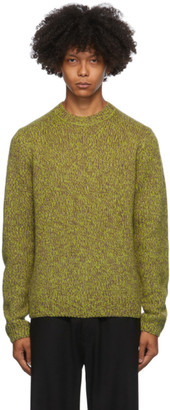 Dries Van Noten Green and Grey Marled Sweater
