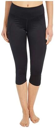 Craft ADV Essence Capris Tights (Black) Women's Casual Pants