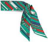Gucci Printed Silk-twill Scarf - Forest green