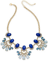 INC International Concepts Gold-Tone Blue Stone Statement Necklace, Only at Macy's