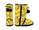 Pokemon Official Fluffy Pikachu Boot Pull On Ladies Teens Slippers