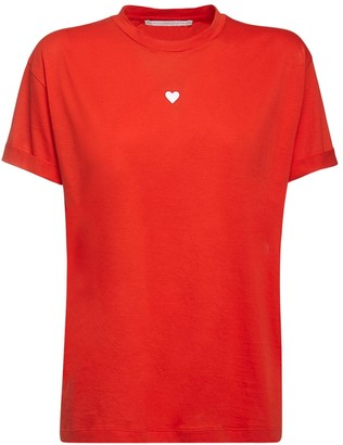 Stella McCartney Organic Cotton T-shirt W/ Heart Patch