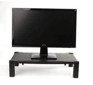 Mind Reader Extra Wide Monitor Stand, Monitor Riser, Height Adjustable, for Computer, Laptop, Desk